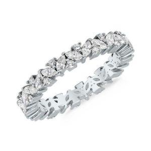 Diamond laurel enternity ring