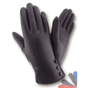 Womens fur lined leather gloves