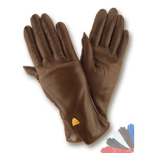Ladies warm leather gloves