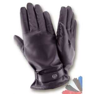 Mens black leather gloves