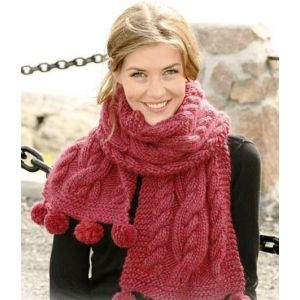 Hand knit scarf for women