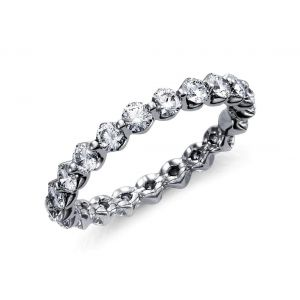 Floating oval diamond ring