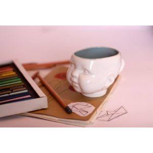 Baby face clay mug