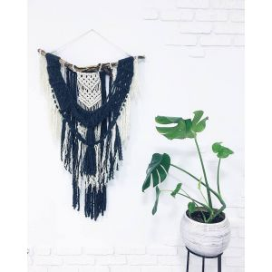 Bohemian macrame yarn decor