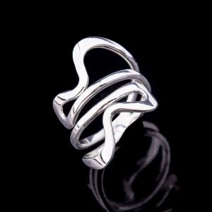 Coiled silver ring