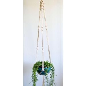Cotton rope plant hanger
