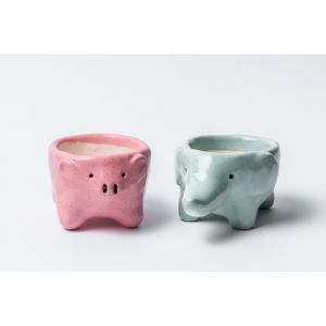 Cute animalistic succulent pots set