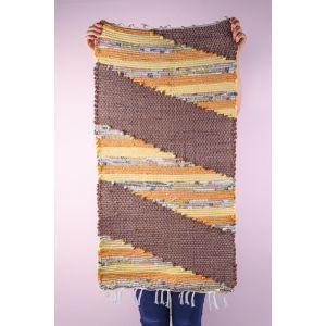 Brown cotton rag rug