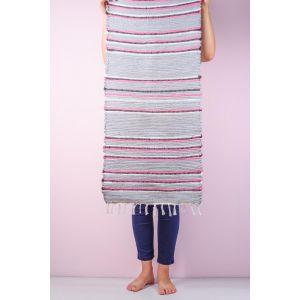 Gray rag rug runner