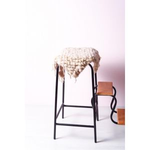 Hand woven white chair cover