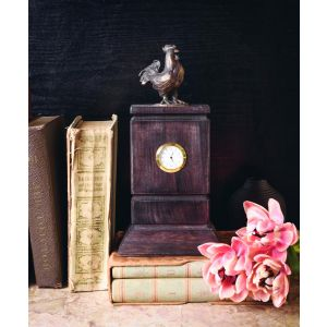 "Luxury wooden clock ""Rooster"""
