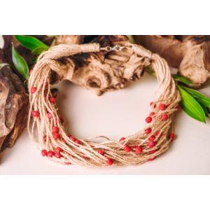 "Organic Handmade Necklace ""Cranberry"""