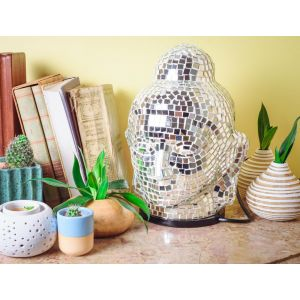 Mirror Buddha Table Lamp