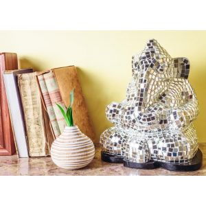 Mosaic Ganesha Table Lamp