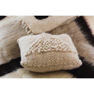 White decorative pillow ''Soft triangle''