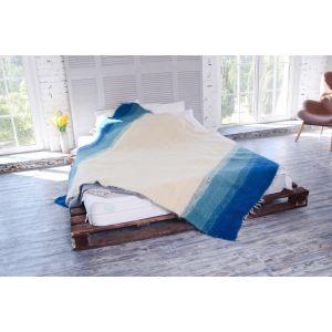Hand woven blue blanket