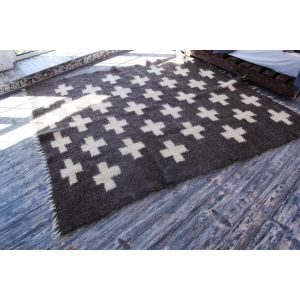 Swiss cross area rug