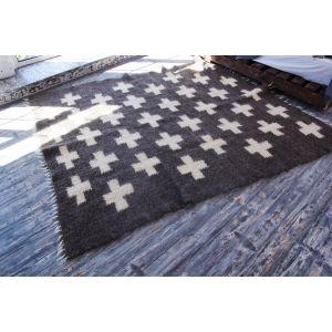Swiss cross area rug