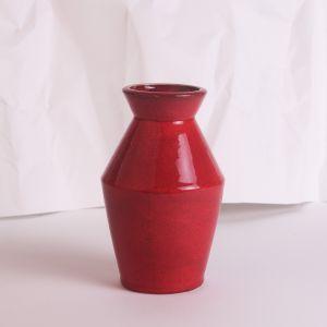 Red ceramic vase