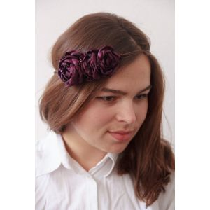 "Flower headband ""Purple roses"""