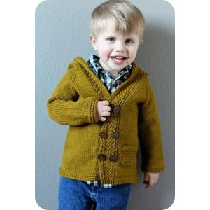 Baby boy knit hooded sweater