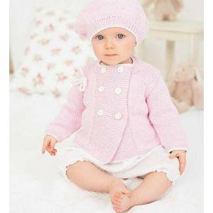 Pink crochet newborn outfit