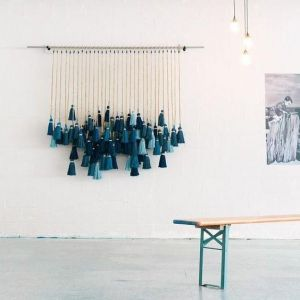 Large tassel hanging décor