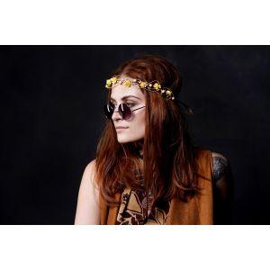 "Flower crown headband ""Yellow roses"""