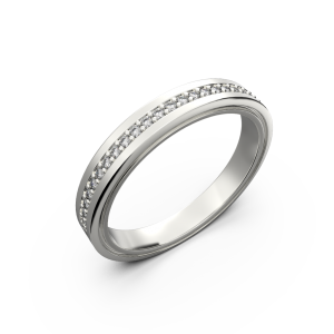 Gold diamond wedding band for women