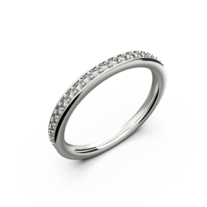 Women's white gold band wedding ring