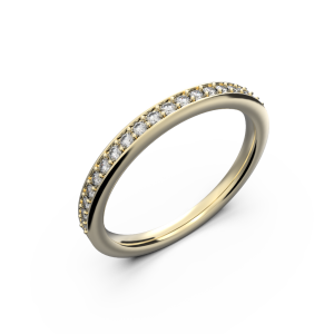 Women's yellow gold band wedding ring