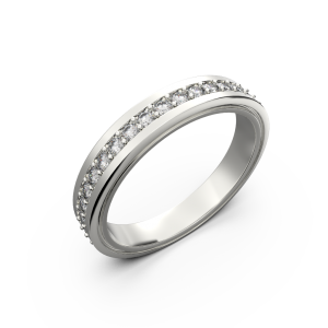Womens wide gold wedding band