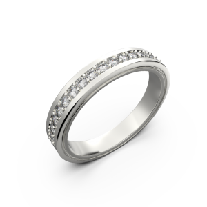 Diamond wedding band for women in white gold 0,235 carat