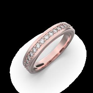 Diamond wedding band for women in rose gold 0,235 carat