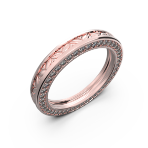 Rose gold wide wedding band for him and her