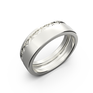 Wide wedding band without diamonds