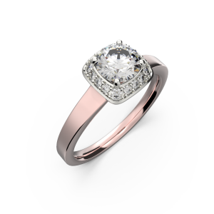 Gold diamond ring for women