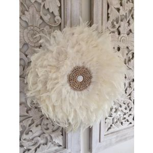 White juju hat wall decor