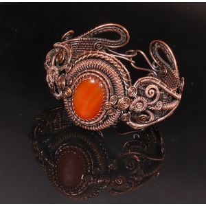 Wire wrapped carnelian bracelet