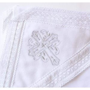 Embroidered baptism blanket