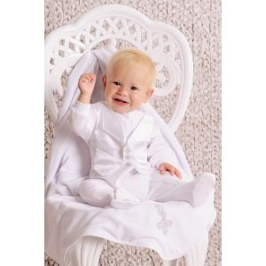 "Baby boy baptism outfit ""Great day"""