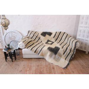 "White-gray sofa throw cover ""Beige harmony"""