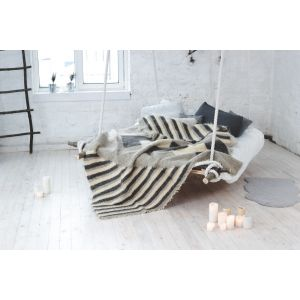 "Bed throw ""Lozenges and stripes"""