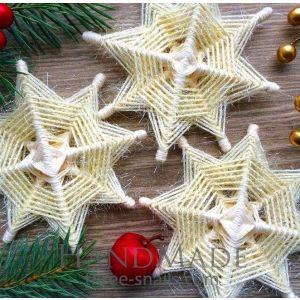 "A set of Christmas tree stars ""Vanilla Stars"""
