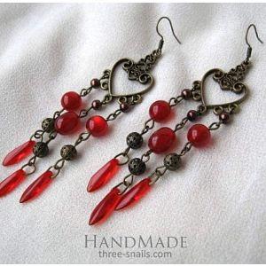 "Acrylic earrings ""Lovely berries"""