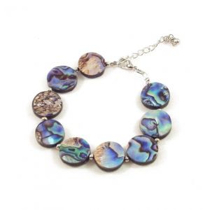 Adjustable abalone shell bracelet