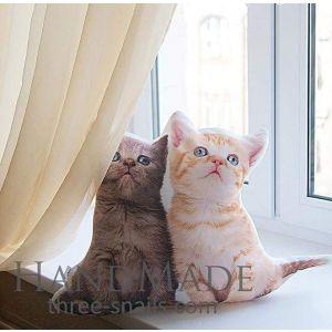 """Animal print pillow """"Cats"""""""