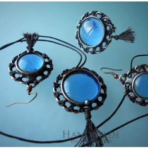 "Antique style jewelry set ""Ocean"""