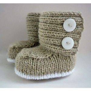"Baby booties Handmade ""Winter Miracle"""