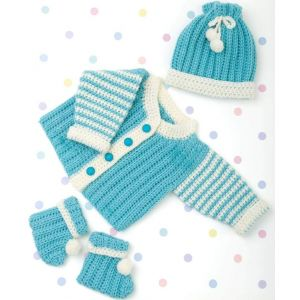 "Baby boy crochet outfits ""Turquoise"""